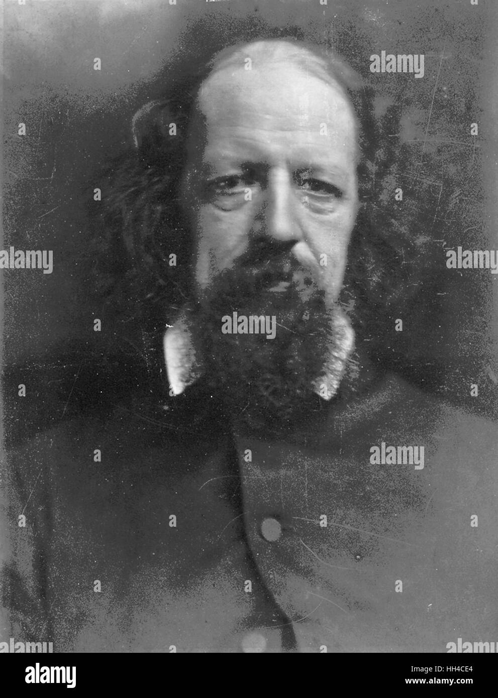 Alfred, Lord Tennyson - Stock Image