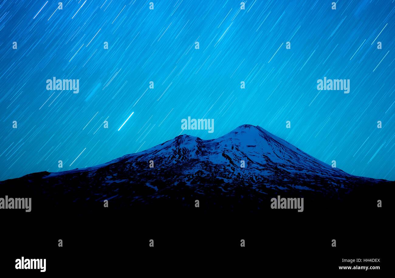 LLaima volcano, Araucania, Chile Stock Photo