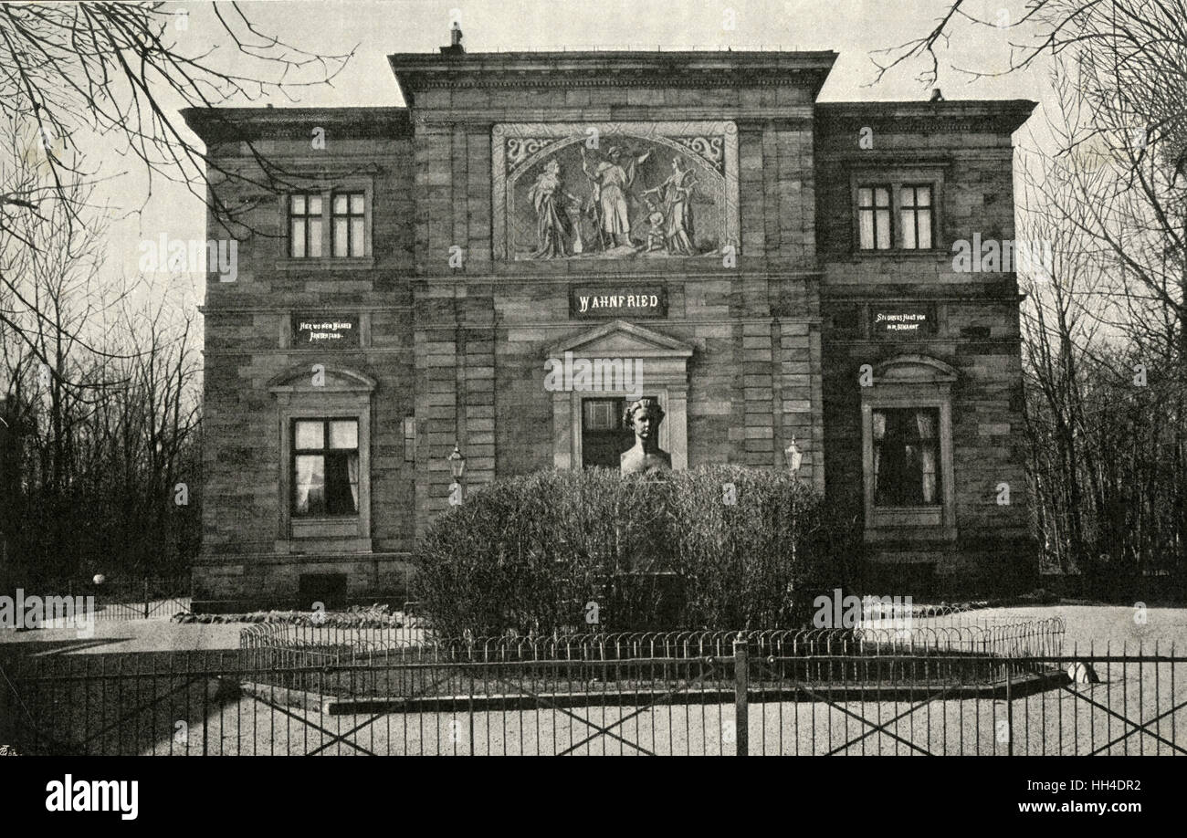RICHARD WAGNER  German composer's villa,  Wahnfried, at Bayreuth,  seen from the front Stock Photo