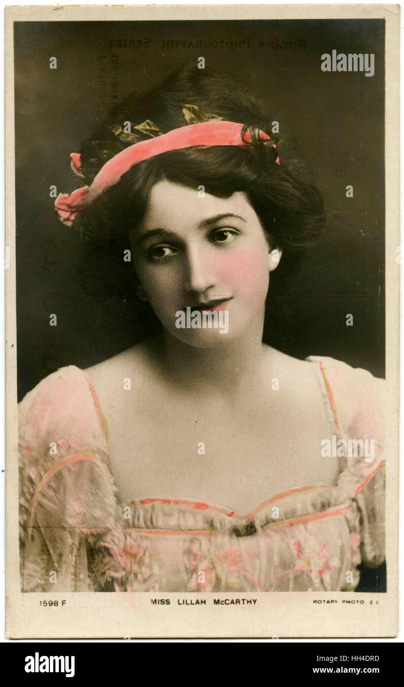Lillah Mccarthy (1875 - 1960), English actress, first wife of Harley Granville-Barker. - Stock Image