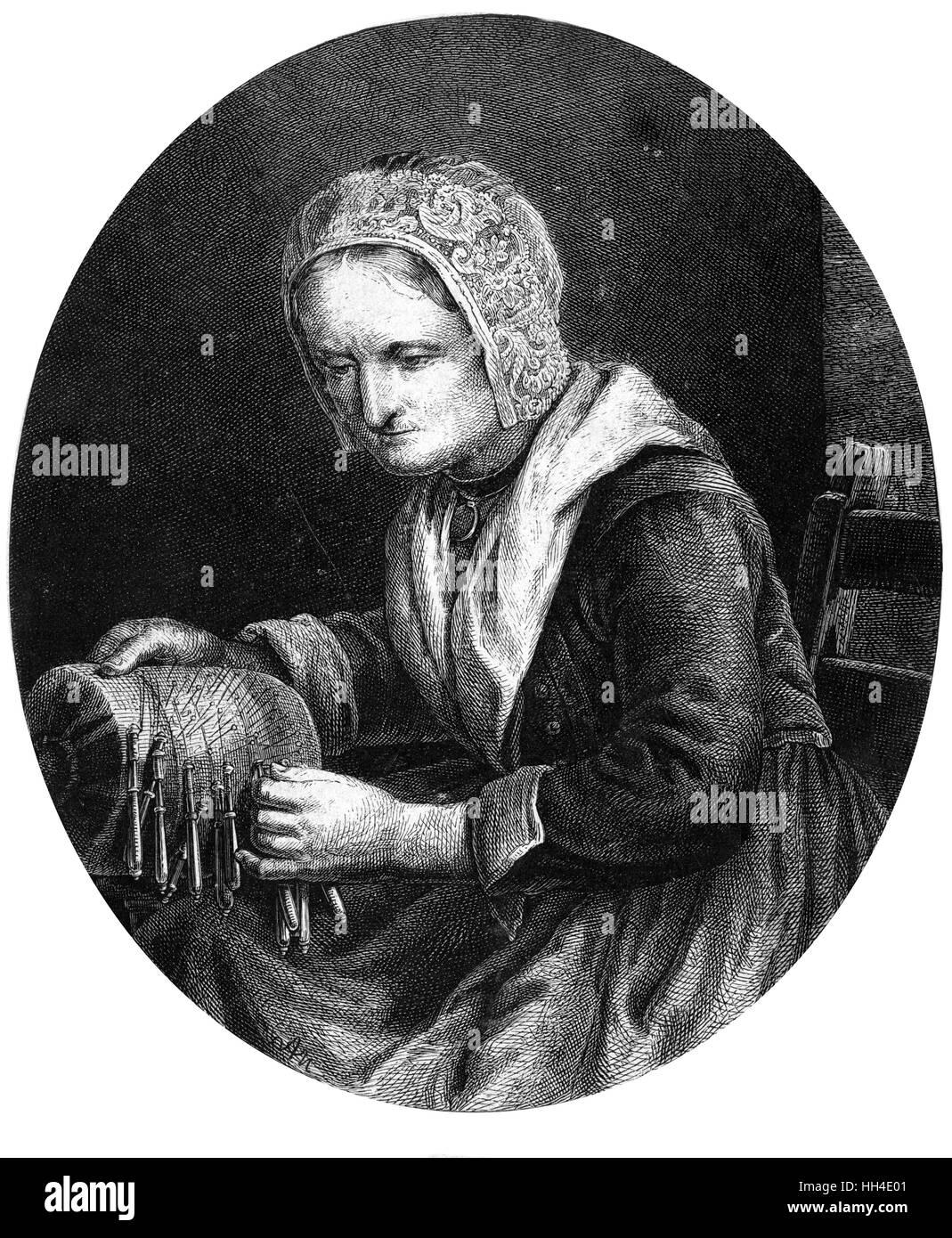 BARBARA UTTMANN  Lacemaker - Stock Image