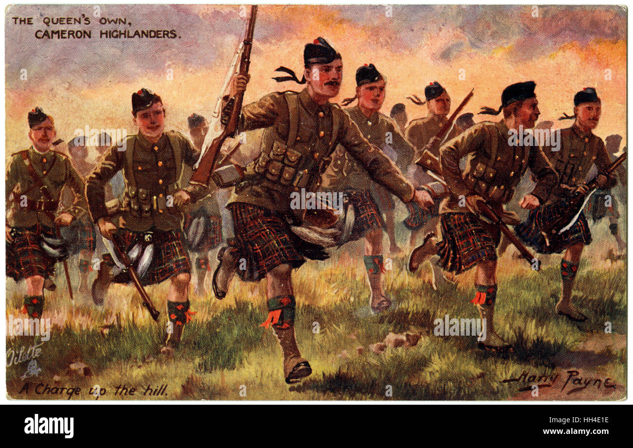 The Queen's own Cameron  Highlanders. - Stock Image