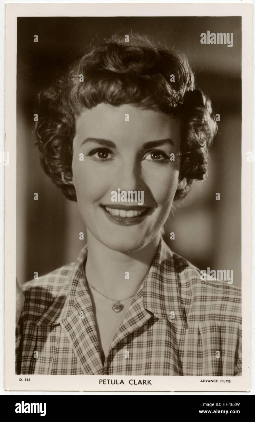 Petula Clark, English singer and film actress Stock Photo