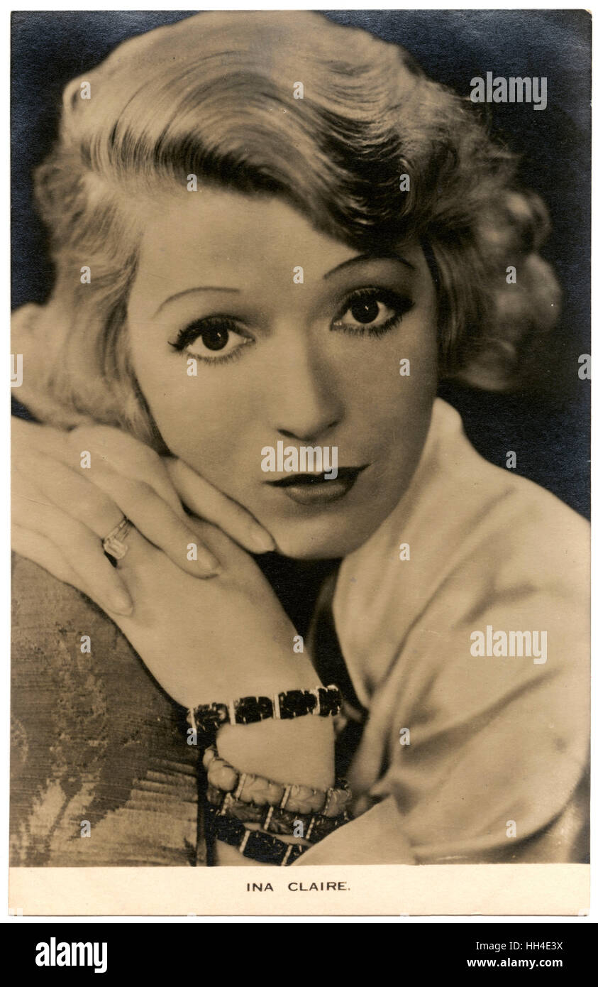 Ina Claire (1893 – 1985),  American actress of stage and screen - Stock Image