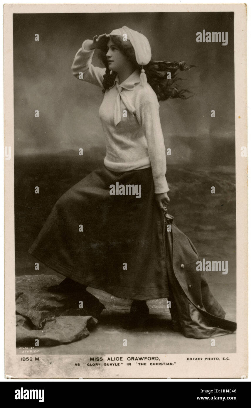 Alice Crawford (1882 - 1931),  Australian actress in the role of  Glory Quayle in 'The  Christian' by Hall - Stock Image