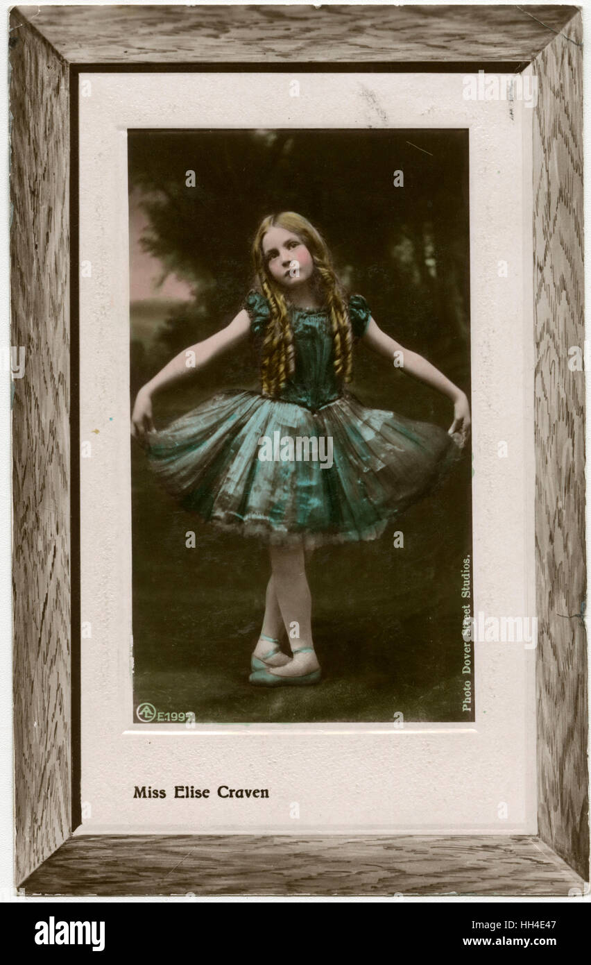 Elise Craven (1898 - 1983), child actress and ballet dancer - Stock Image