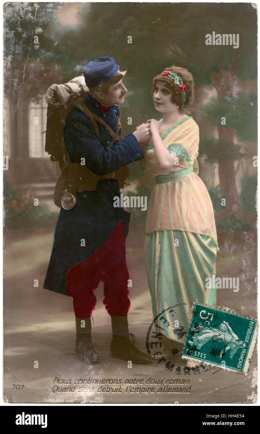 'We will continue our love  story when the German Empire is destroyed!' - Stock Image