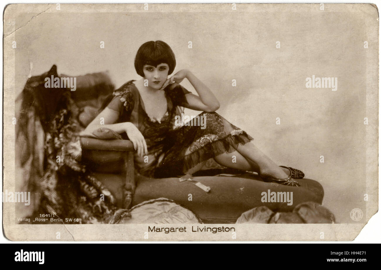 Margaret Livingston (1895 – 1984),   American film actress of the 1920s and 30s - Stock Image
