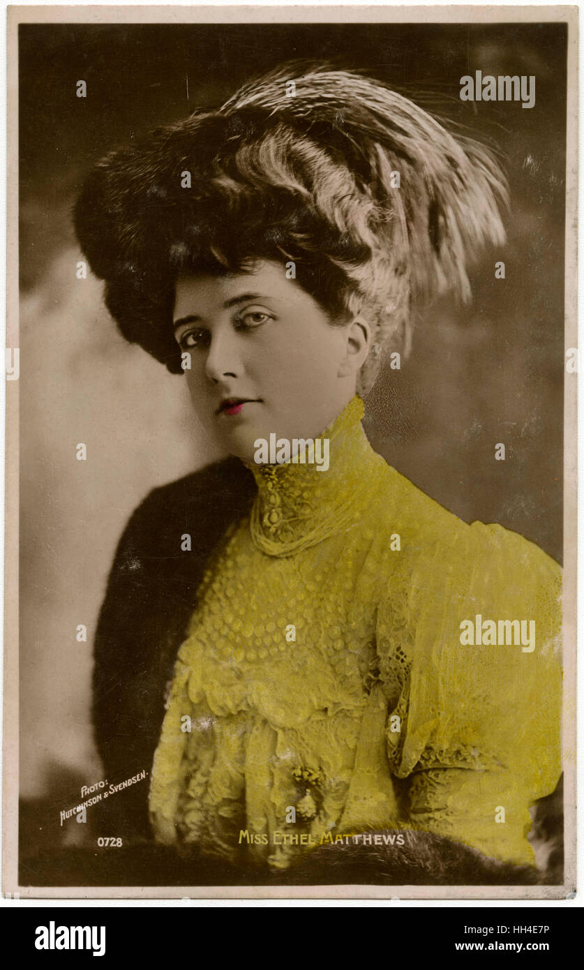 ETHEL MATTHEWS  Musical comedy actress - Stock Image