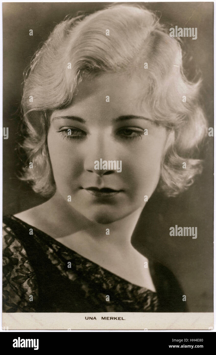 Una Merkel (1903 - 1986), American character actress,  double for Lilian Gish - Stock Image