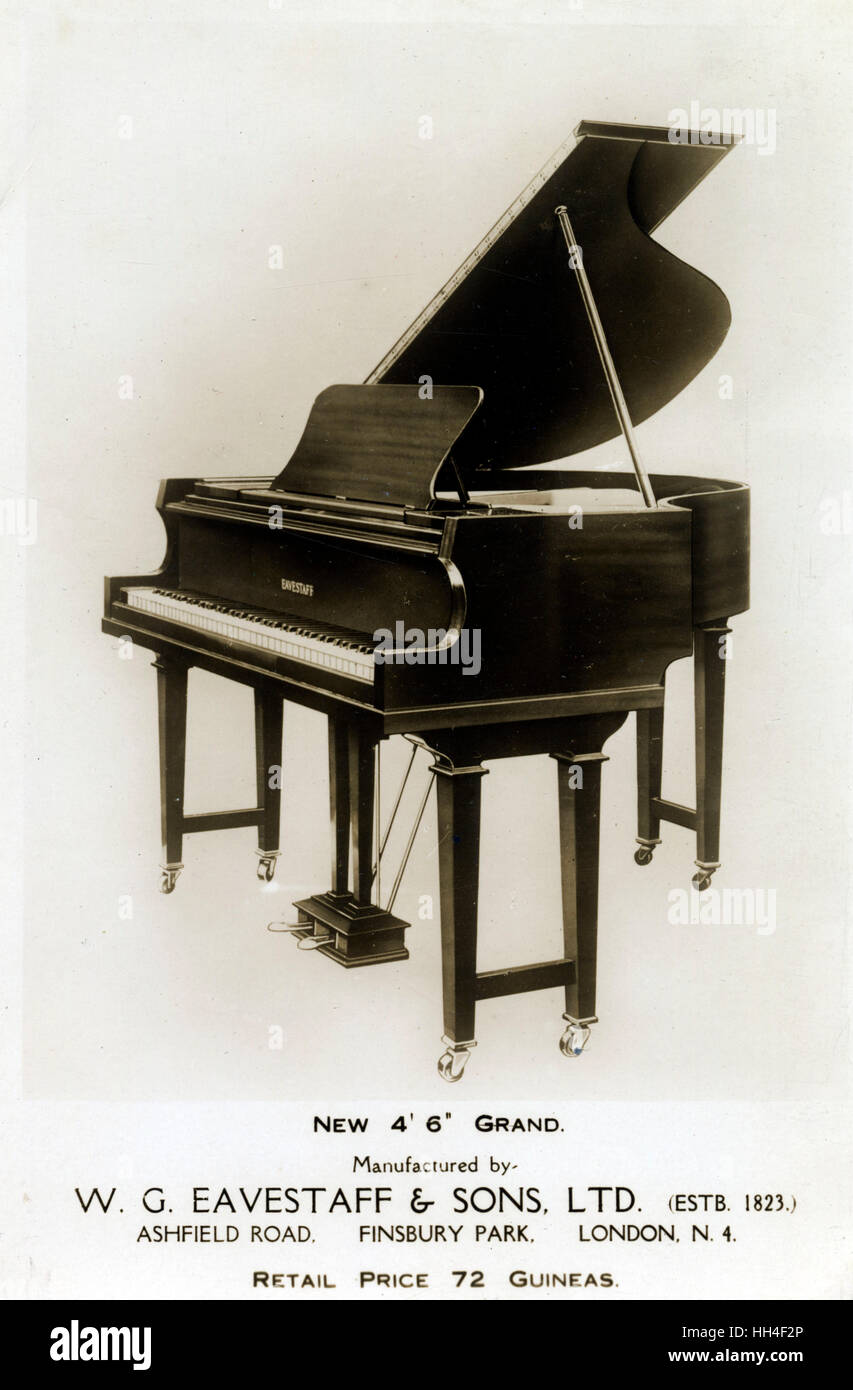 W. G. Eavestaff & Sons Ltd. 4' 6' Baby Grand Piano. - Stock Image