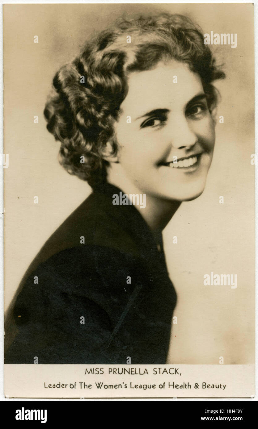 Prunella Stack - Leader of The Women's League of Health & Beauty, The mortimer Halls, 43 Great Portland - Stock Image