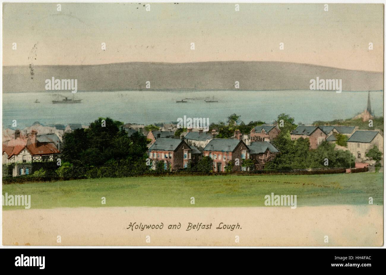 Holywood and Belfast Lough, Northern Ireland - Stock Image
