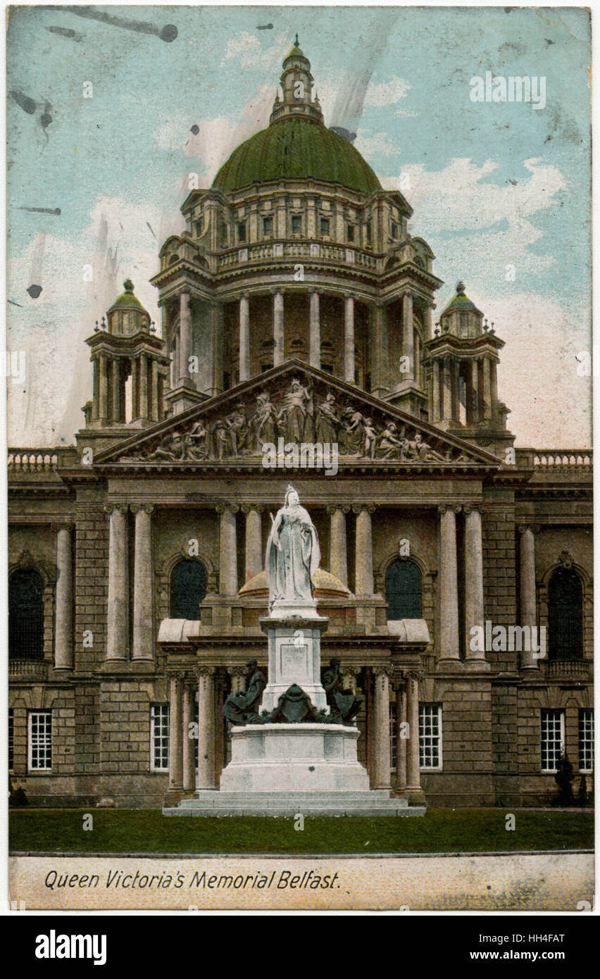Queen Victoria's Memorial, Belfast, Northern Ireland. - Stock Image