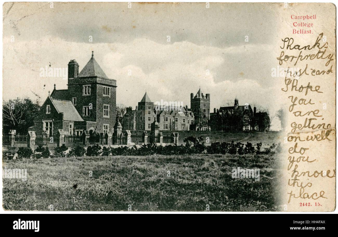 Campbell College, Belfast, Northern Ireland. - Stock Image