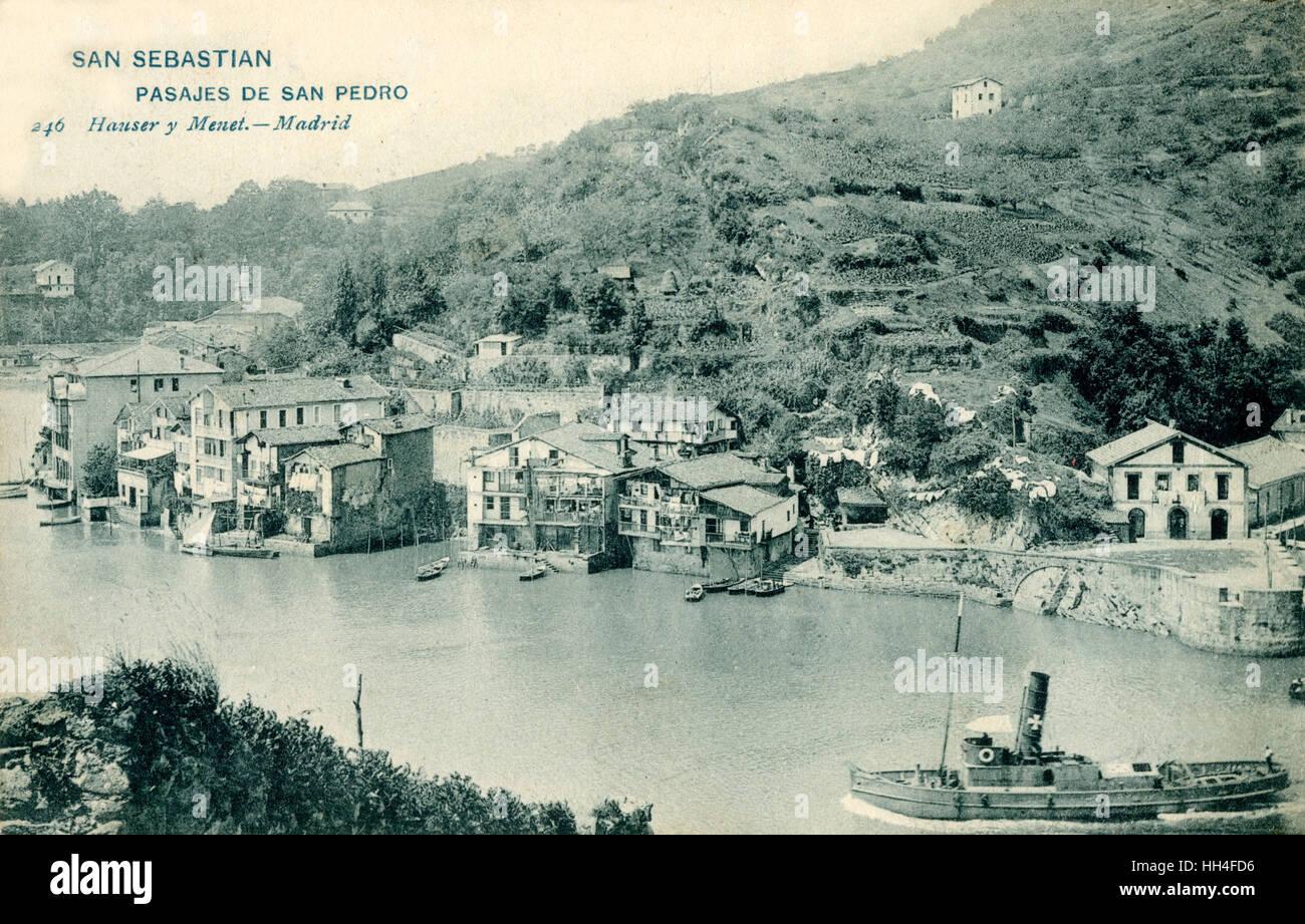 San Sebastian, Basque Region, Spain - Pasajes de San Pedro - Stock Image