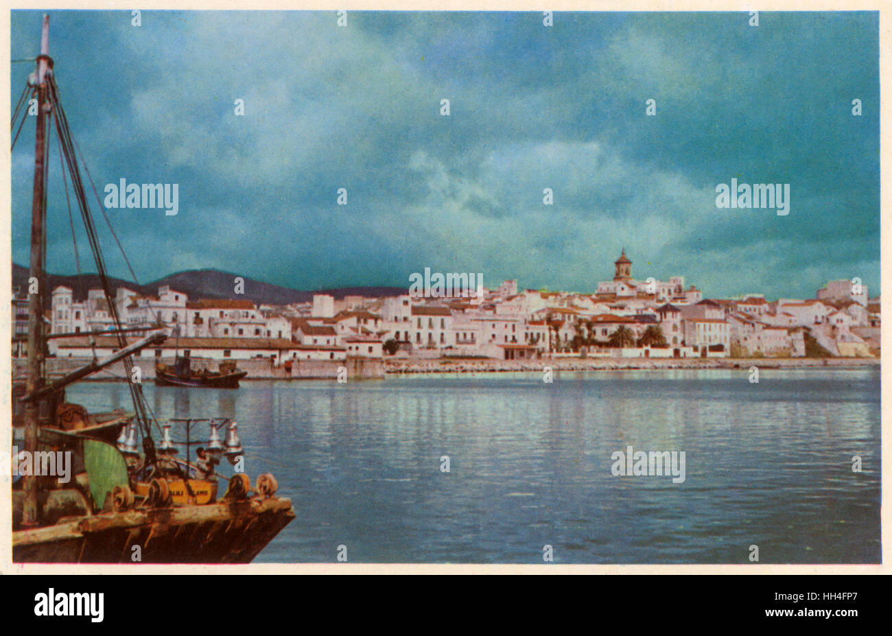 Algeciras, Spain - Partial View from the Port. - Stock Image