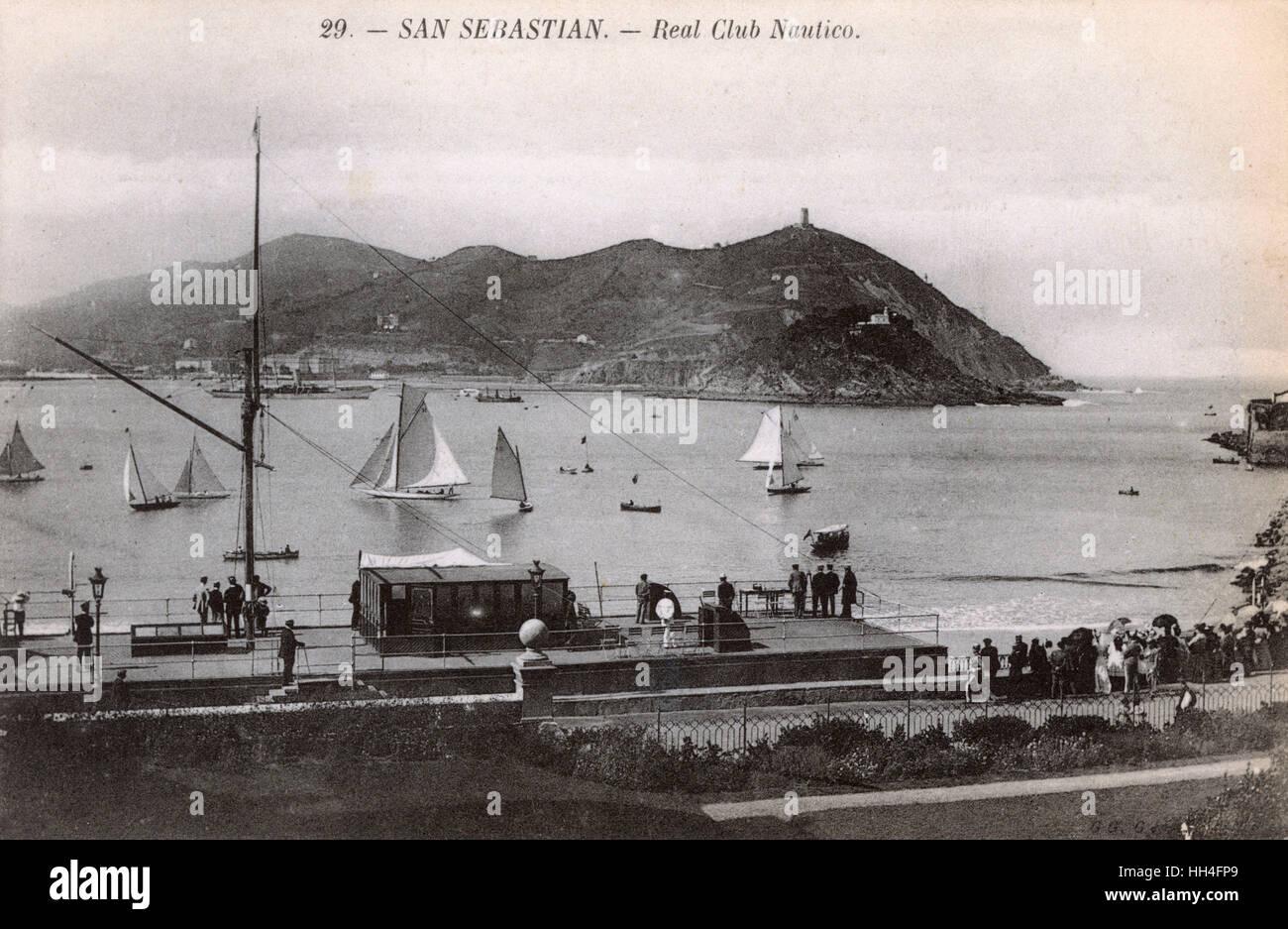 San Sebastian, Basque Region, Spain - Royal Nautical Club - Stock Image