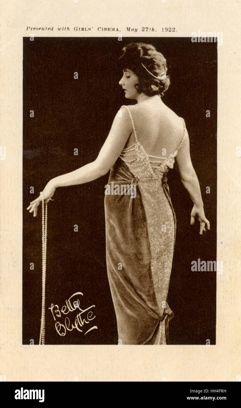 Betty Blythe (1893 – 1972), American actress. - Stock Image