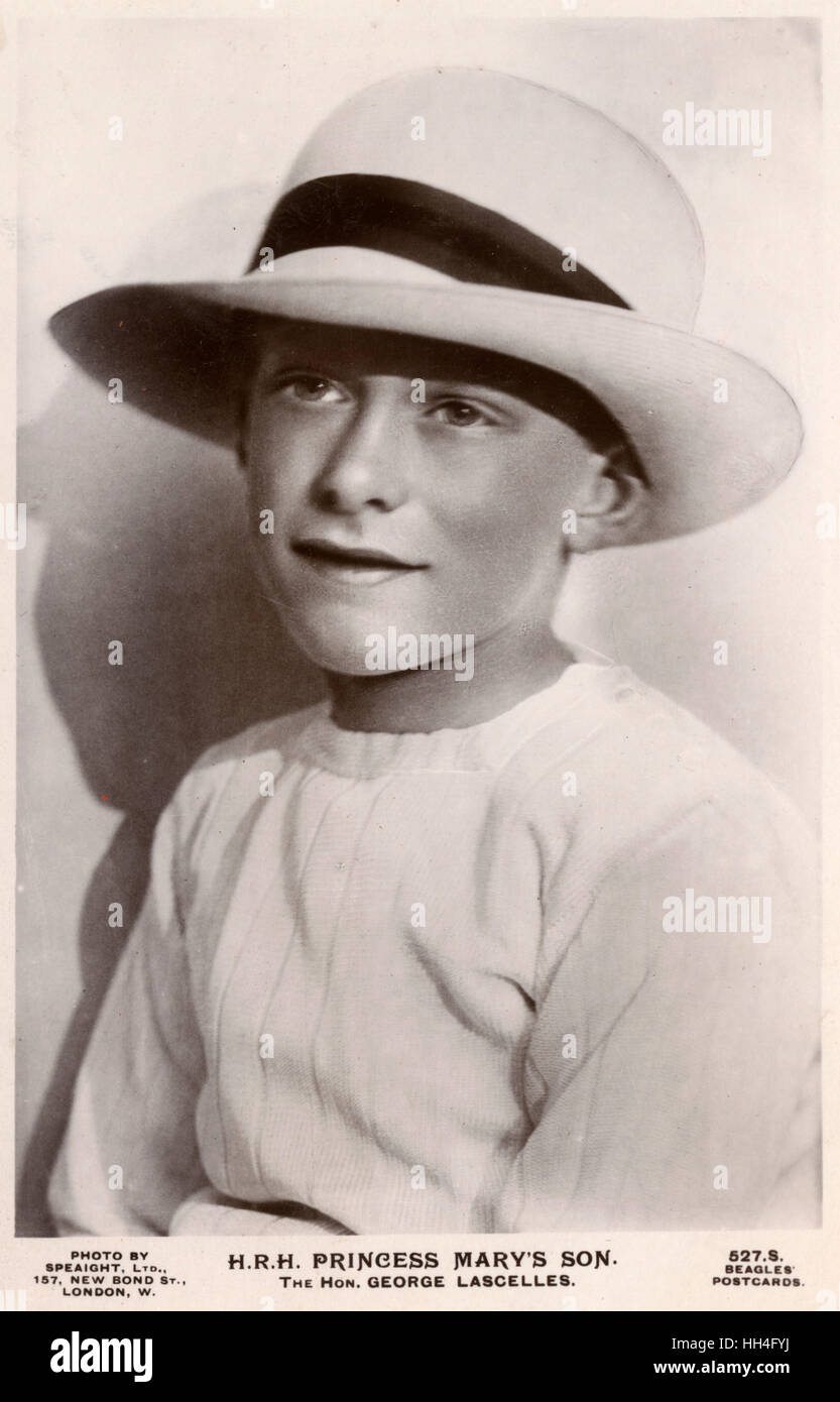 The Hon. George Henry Hubert Lascelles, (later The 7th Earl of Harewood) (1923-2011) - son of Princess Mary, Princess - Stock Image