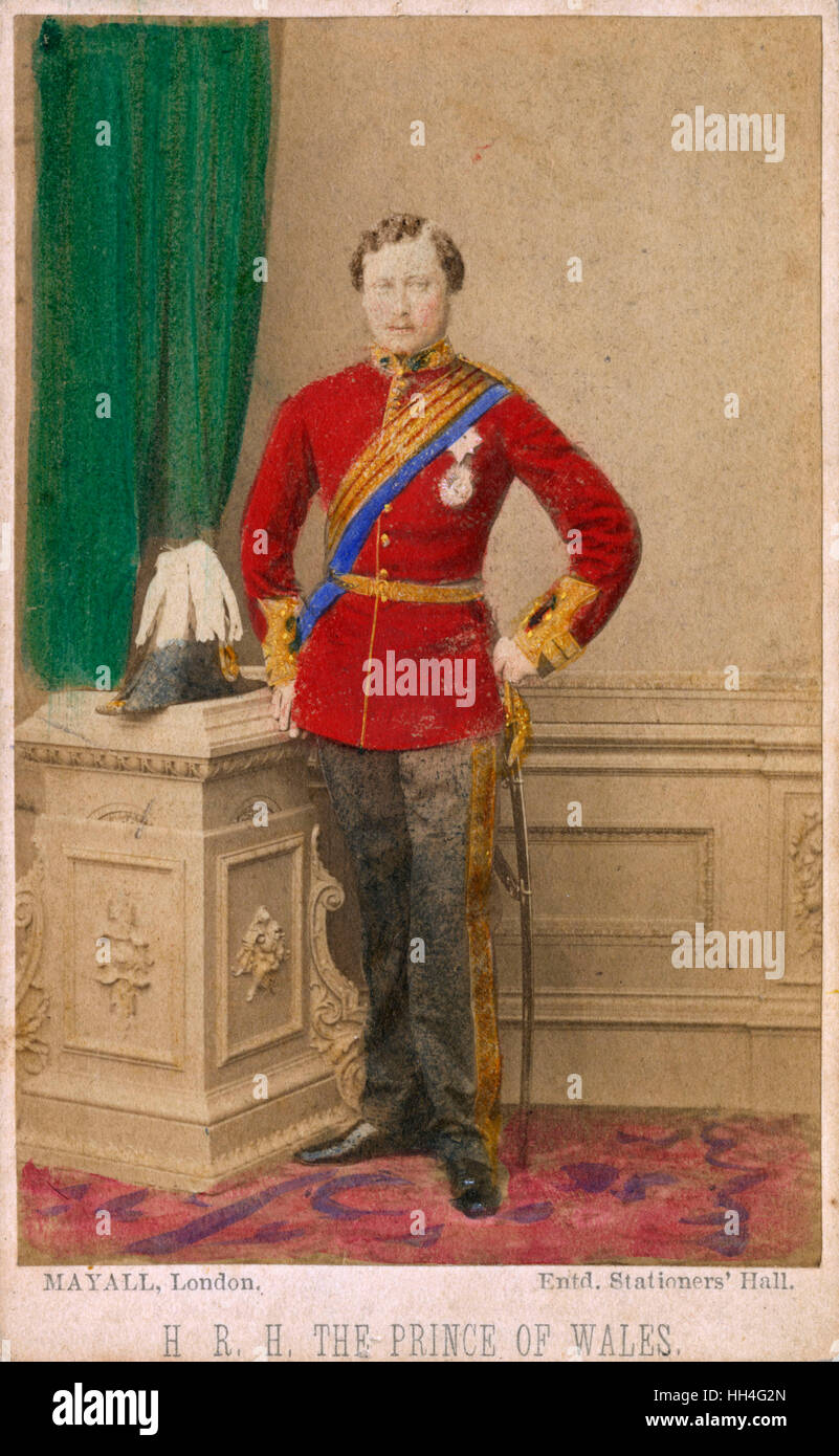 A youthful Edward, Prince of Wales (later King Edward VII) (1841-1910) in naval uniform. - Stock Image