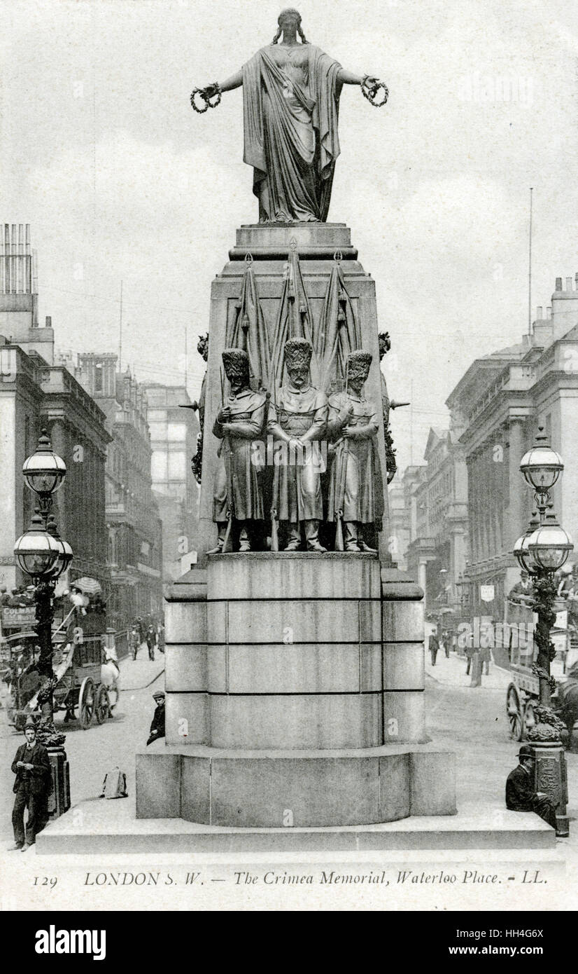 The Crimea Memorial, Waterloo Place, London - Stock Image