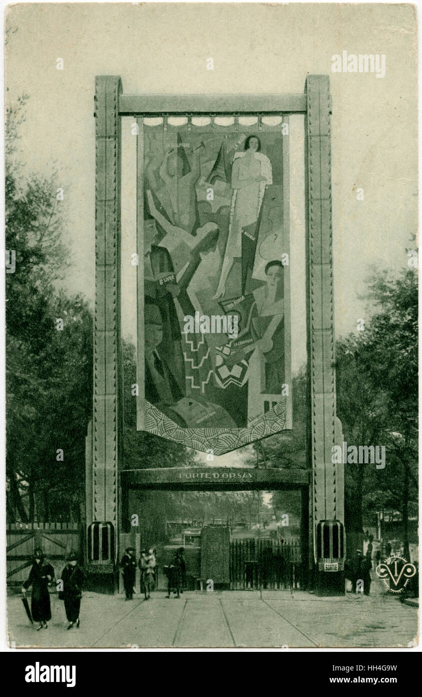 D'Orsay Gate at the Exposition Internationale des Arts Decoratifs et Industriels Modernes, Paris - designed - Stock Image