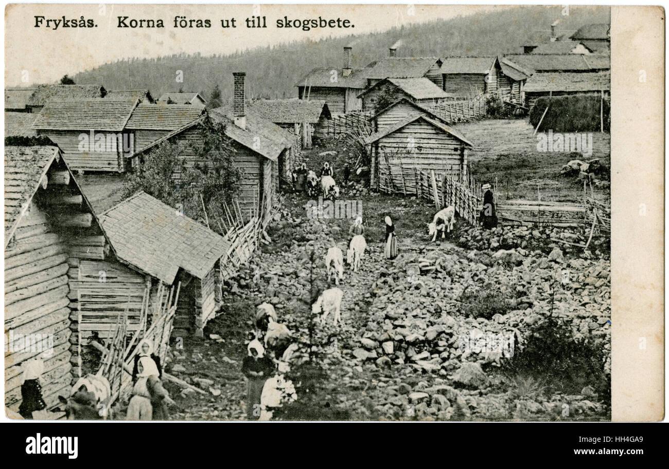 Fryksas Village, Dalarna, Sweden. - Stock Image