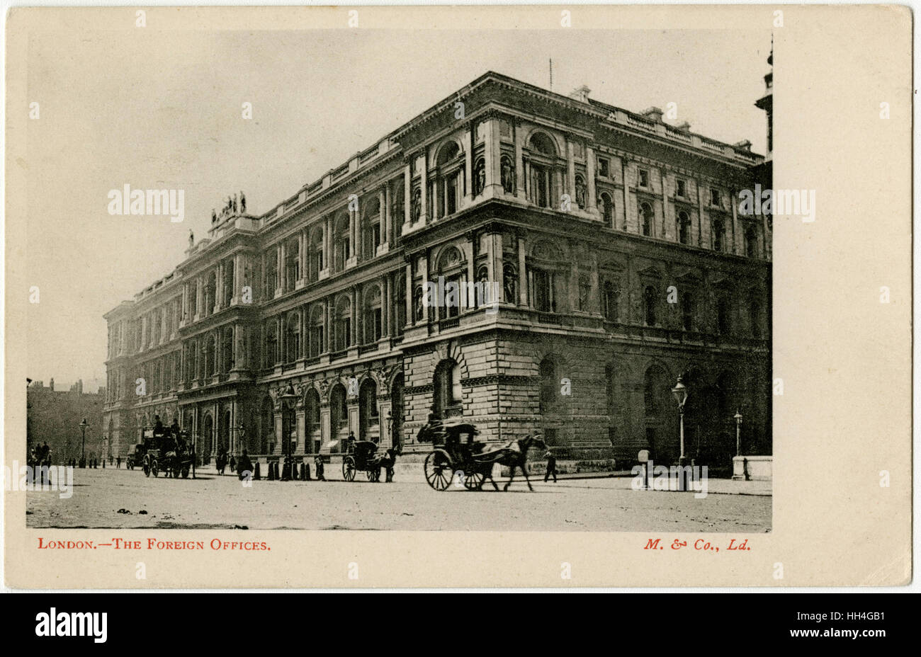 London - The Foreign Offices, Whitehall - Stock Image