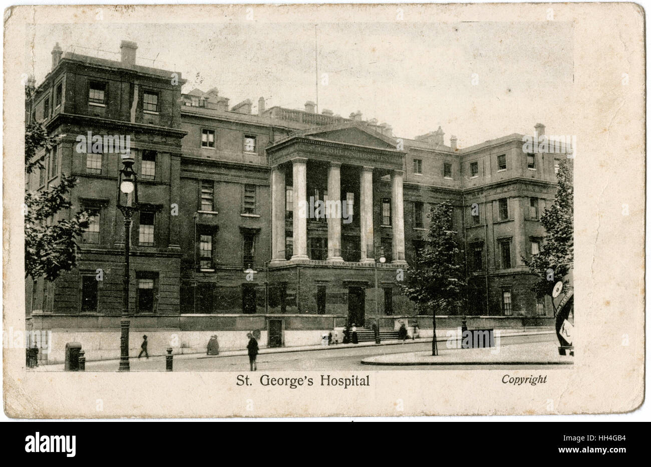 London - St. George's Hospital (now 'The Lanesborough' hotel), Hyde Park Corner. - Stock Image