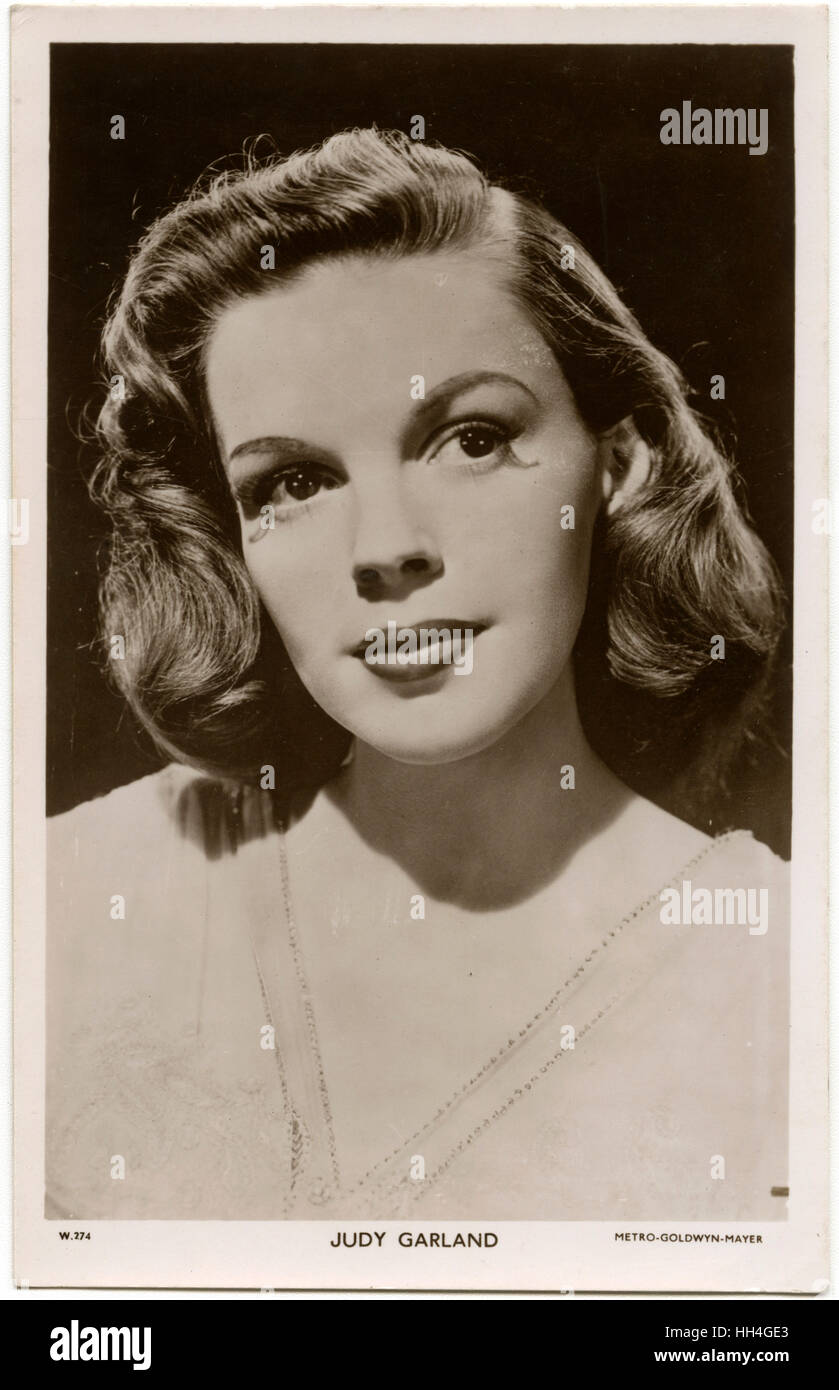 Judy Garland (1922-1969) - American singer, actress, and vaudevillian in the role of in 'Till the Clouds Go - Stock Image