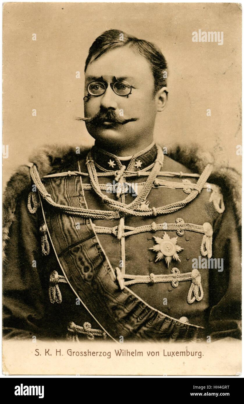 William IV, Grand Duke of Luxembourg (1852-1912). - Stock Image