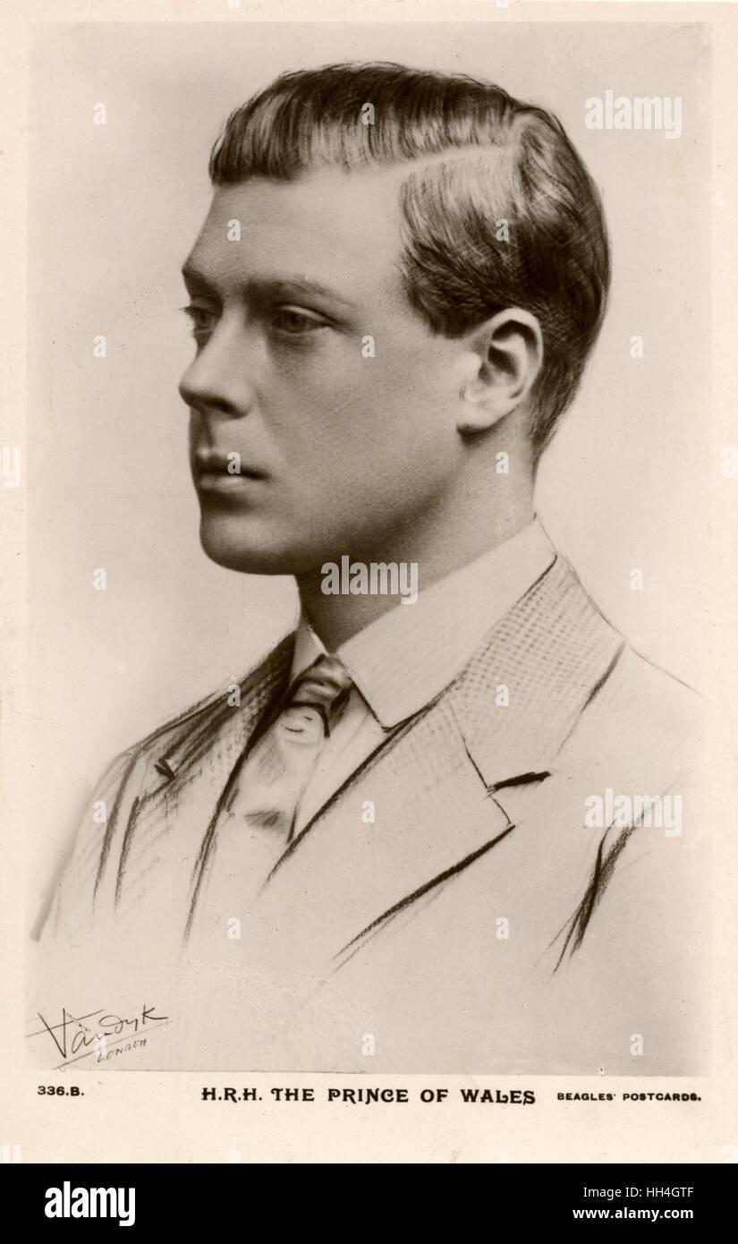 The Prince of Wales, future King Edward VIII (1894-1972). - Stock Image