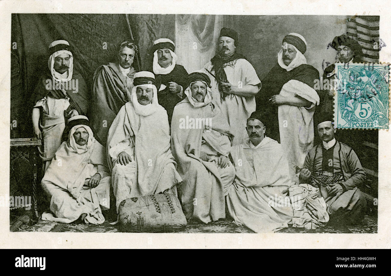 A group of Notable Local Leaders, Syria. - Stock Image
