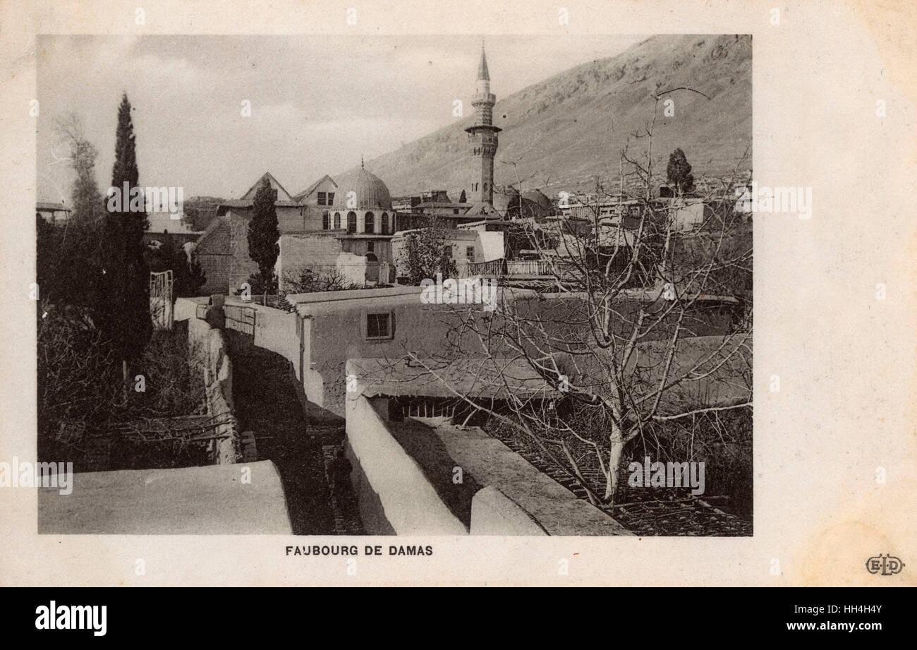 Damascus, Syria - A Suburb - Stock Image