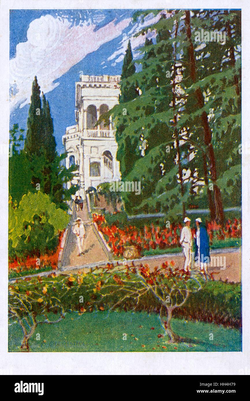 Ukraine. Autonomous Republic of Crimea - Livadia Palace.The summer retreat of tsar Nicholas II built in Neo-Renaissance - Stock Image