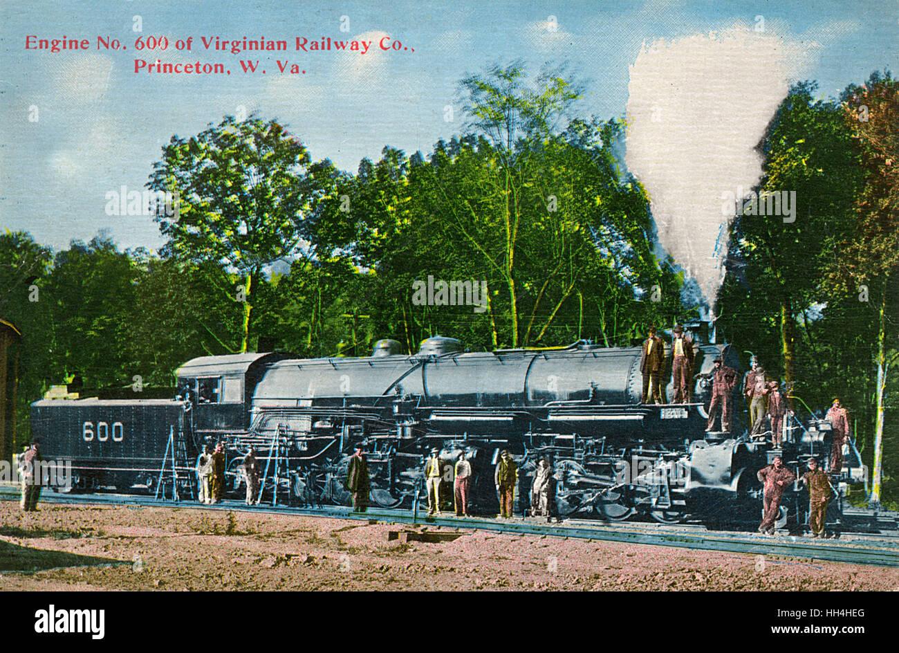 Engine no. 600, Virginian Railway Company, Princeton, West Virginia, USA. - Stock Image