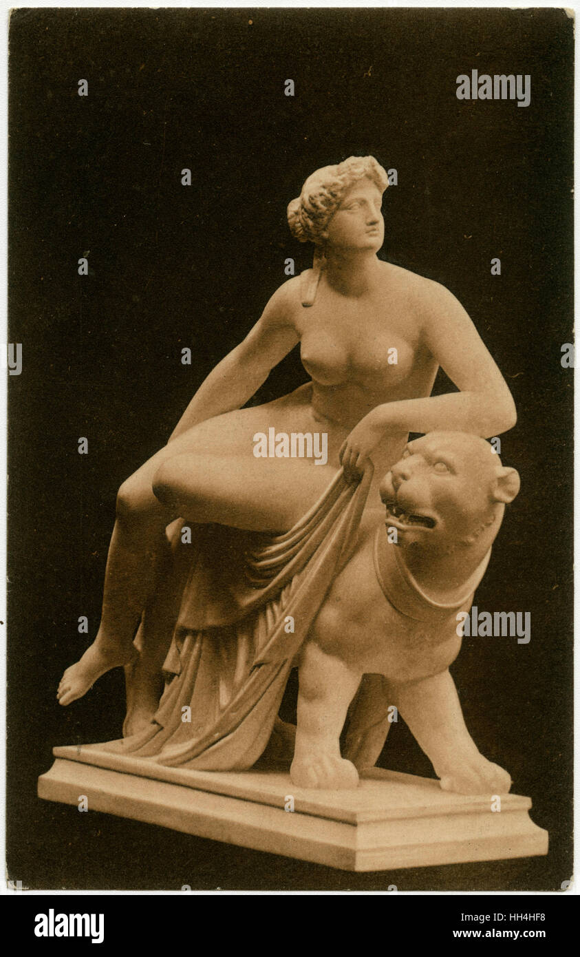 Statue of Ariadne on the Panther (finished from 1810 to 1824), Bethmann's Museum, Frankfort-on-the-Main, Germany Stock Photo