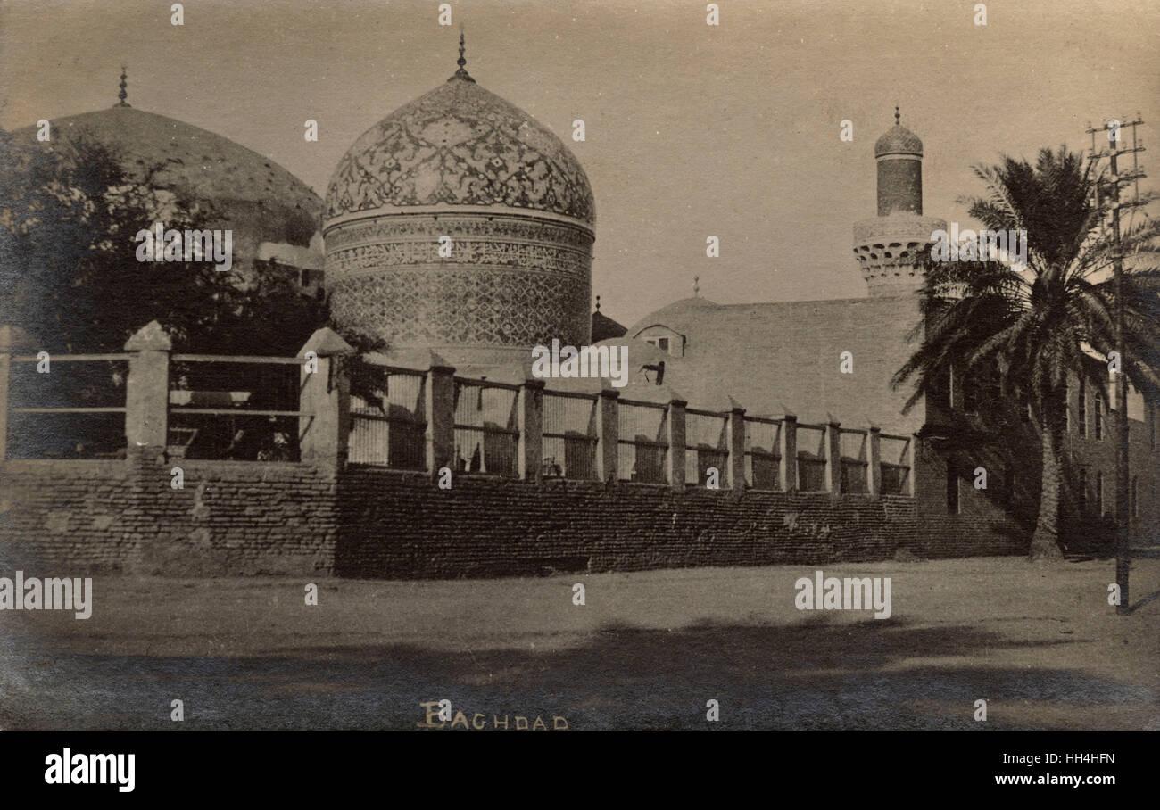 Sheikh Abdul Qadir Gilani's tomb, Baghdad, Iraq. - Stock Image