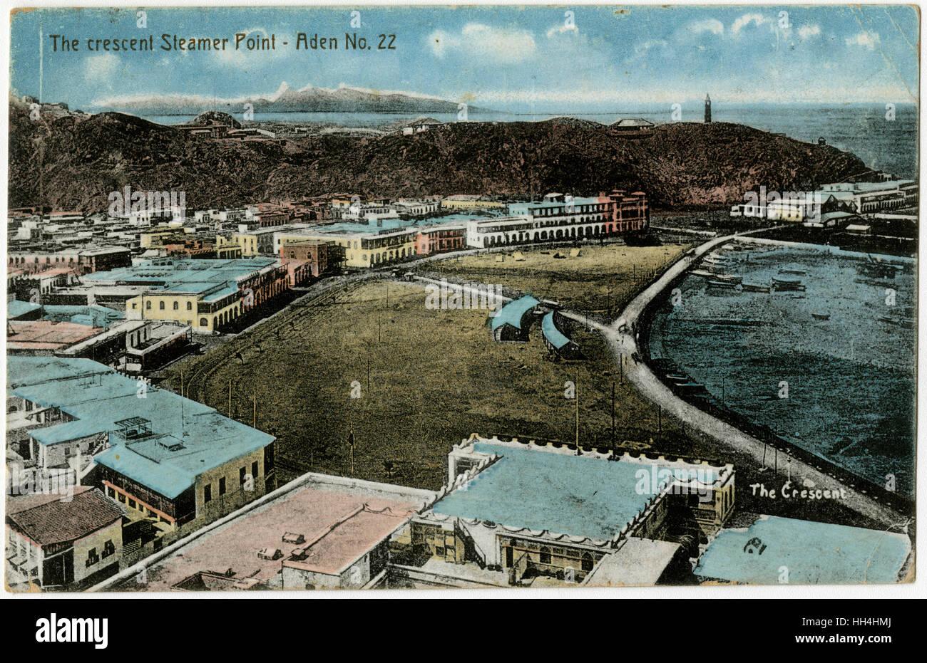 The Crescent - Steamer Point, Aden, Yemen. - Stock Image