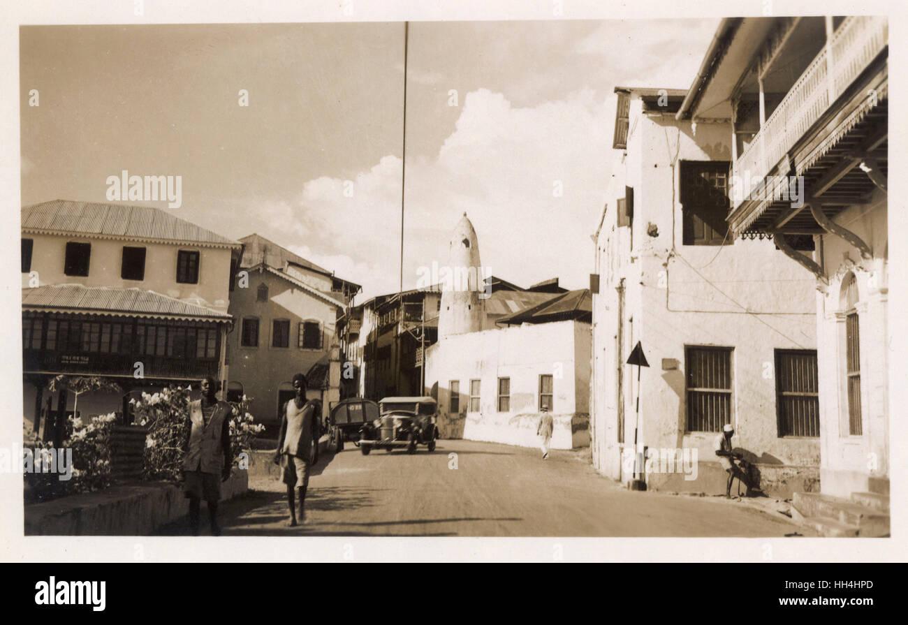 Vasco da Gama Street, Mombasa, Kenya, East Africa. - Stock Image