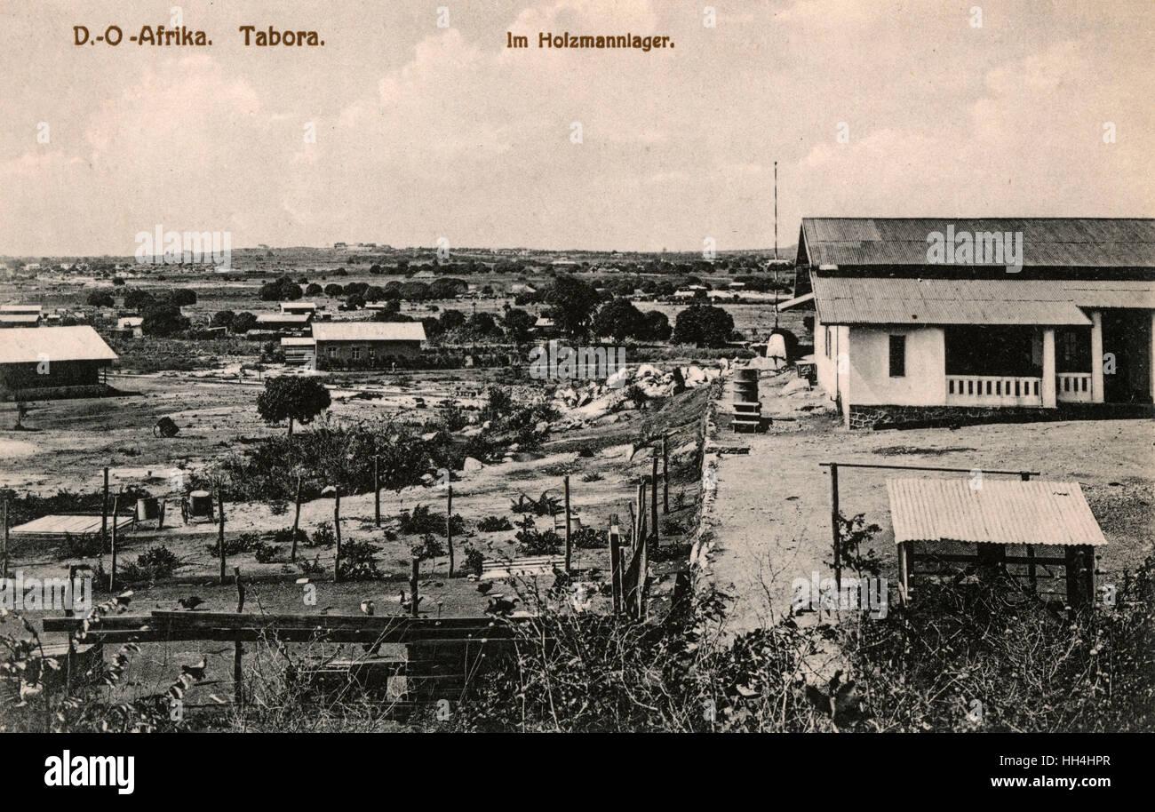 Farmstead in Tabora, German East Africa (now in Tanzania). - Stock Image