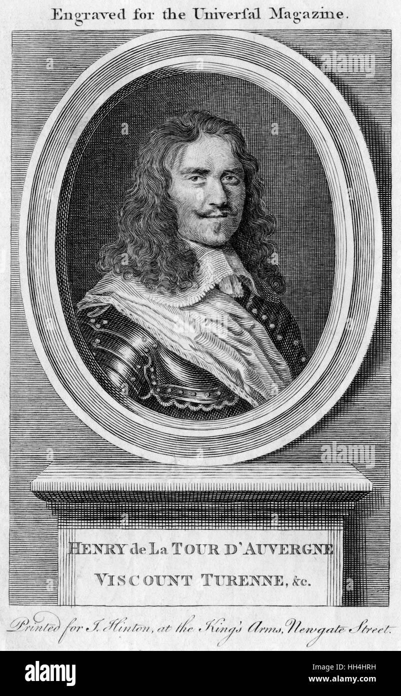 Henri de la Tour d'Auvergne Vicomte de Turenne (1611-1679) - French General. - Stock Image