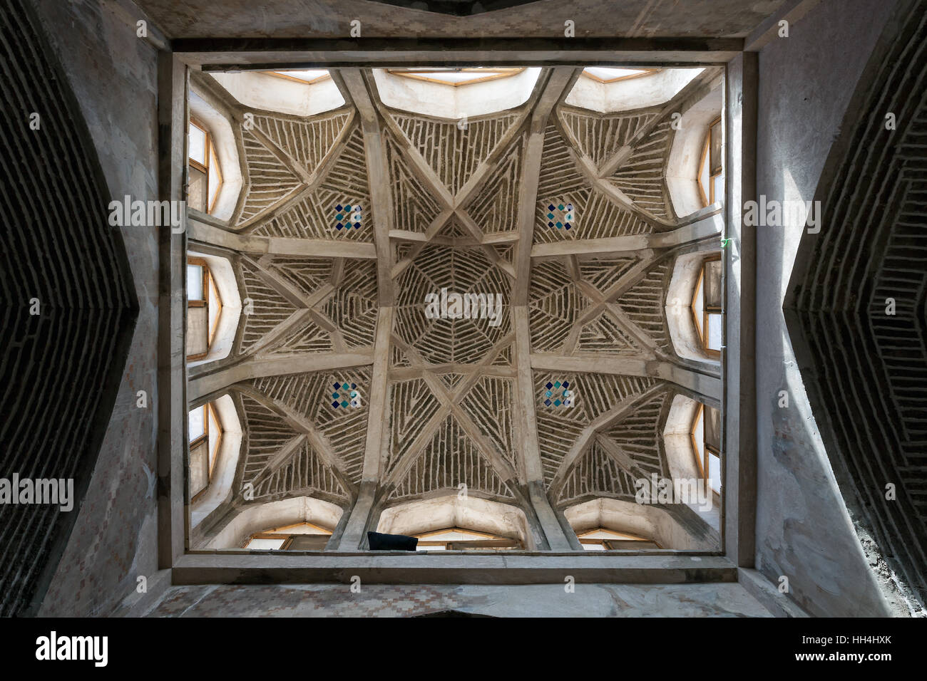 Ancient dome of Jameh mosque of Isfahan, Iran - Stock Image