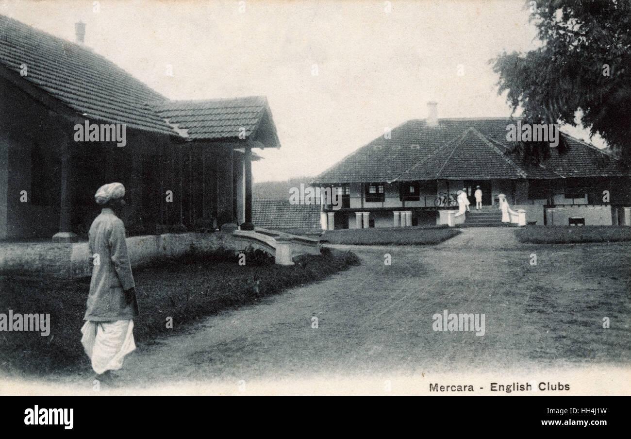 English Clubs (army camp), Mercara (Madikeri) Karnataka, India. - Stock Image