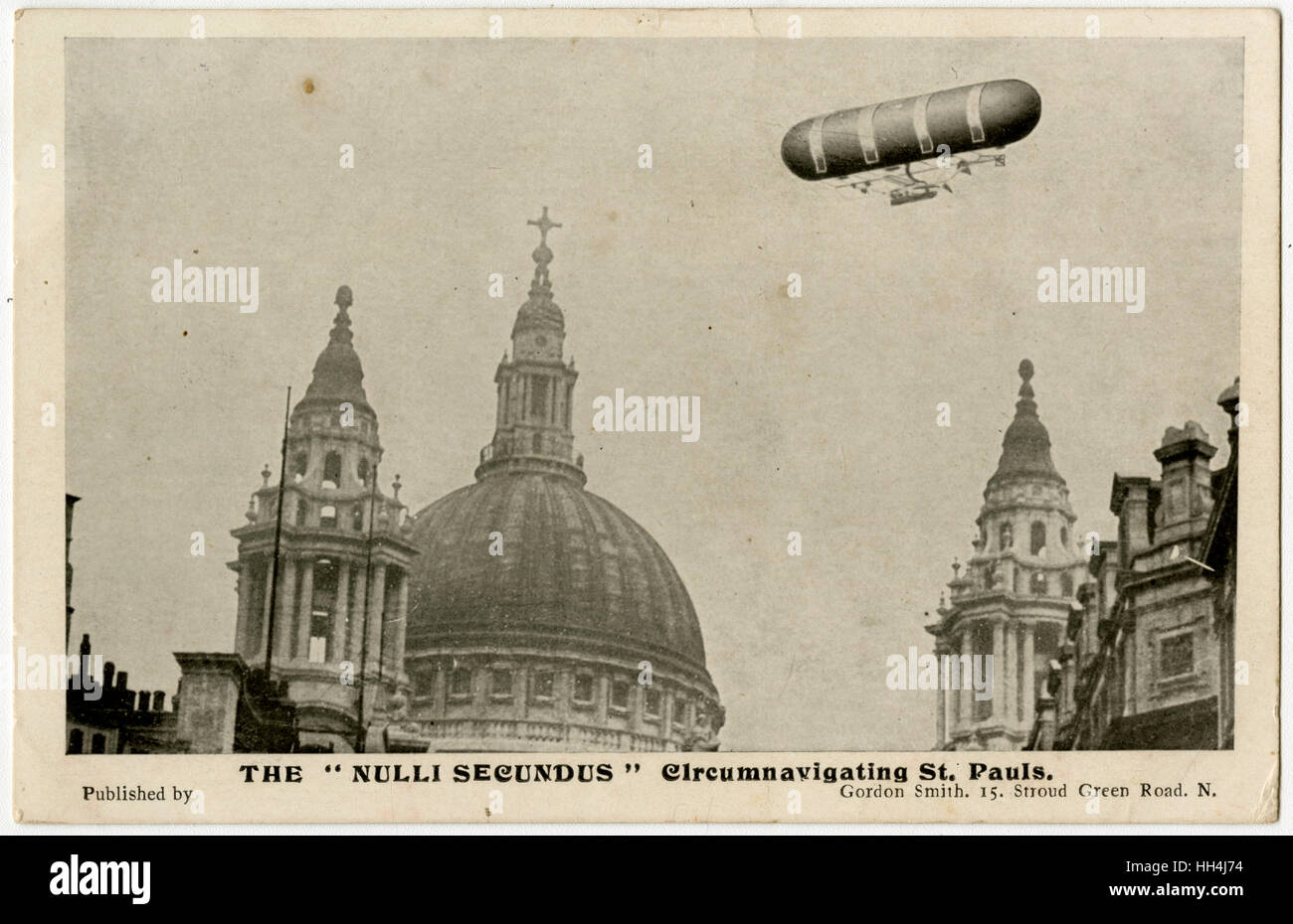 British Army Dirigible No 1, christened Nulli Secundus (Latin: 'Second to none') was a Semi-rigid airship. - Stock Image