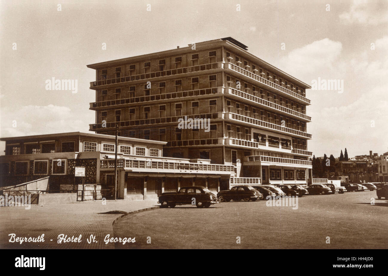 Hotel St. Georges in Beirut (Beyrouth), Lebanon, was built in the late 1920's and hosted many famous guests - Stock Image