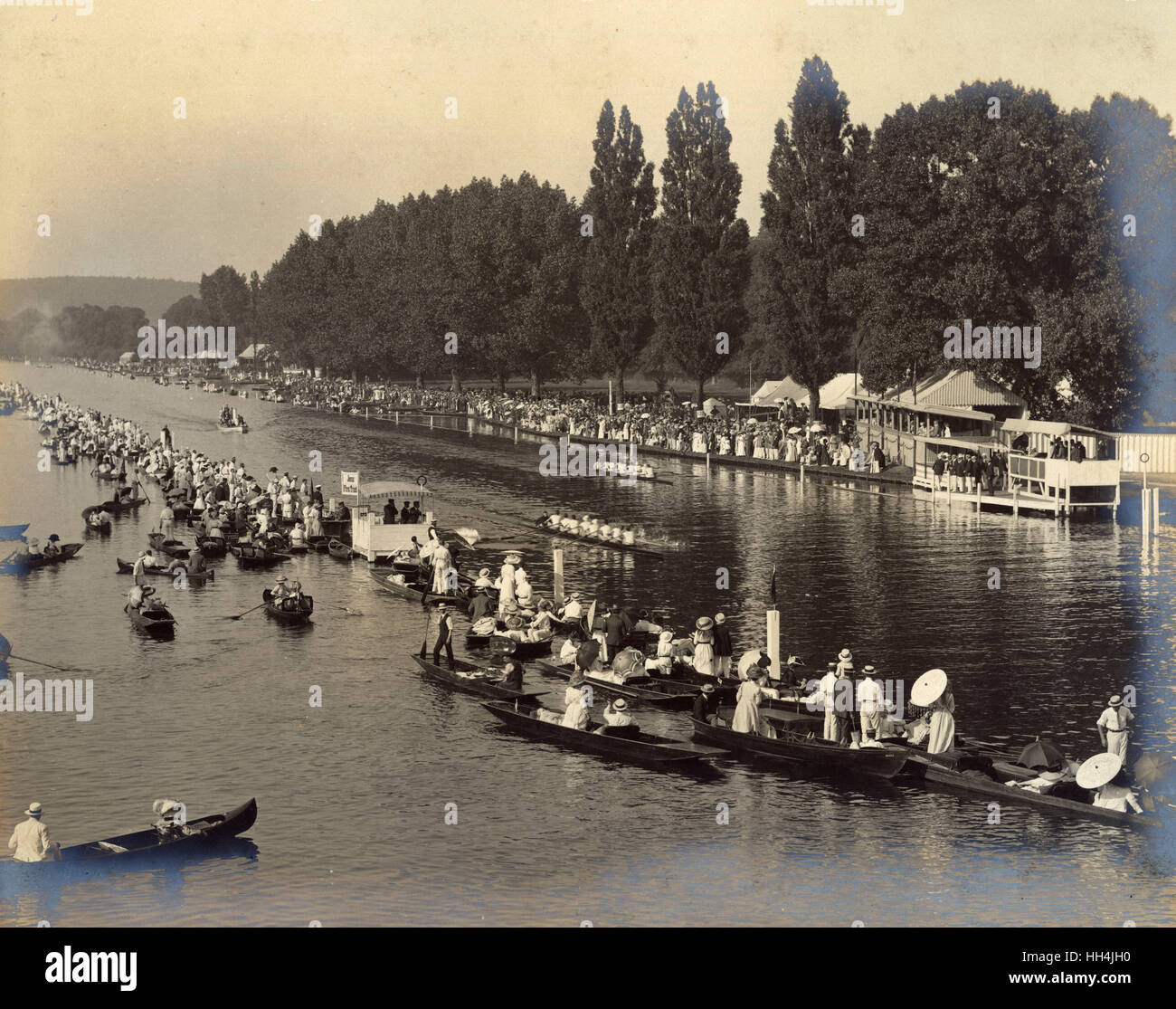 Rowing regatta on a summer's day. - Stock Image
