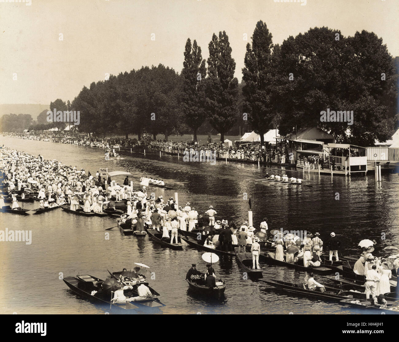 A rowing regatta on a summer's day. - Stock Image