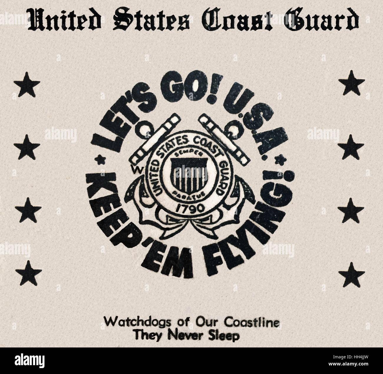 WW2 - Let's Go! USA - Keep 'em Flying! - US Coastguard - Stock Image